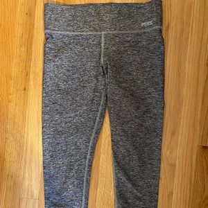 Brand pink , grey cropped leggings
